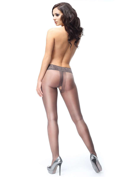 missO Grey Tights - Open Crotch Tights - Naughty Knickers