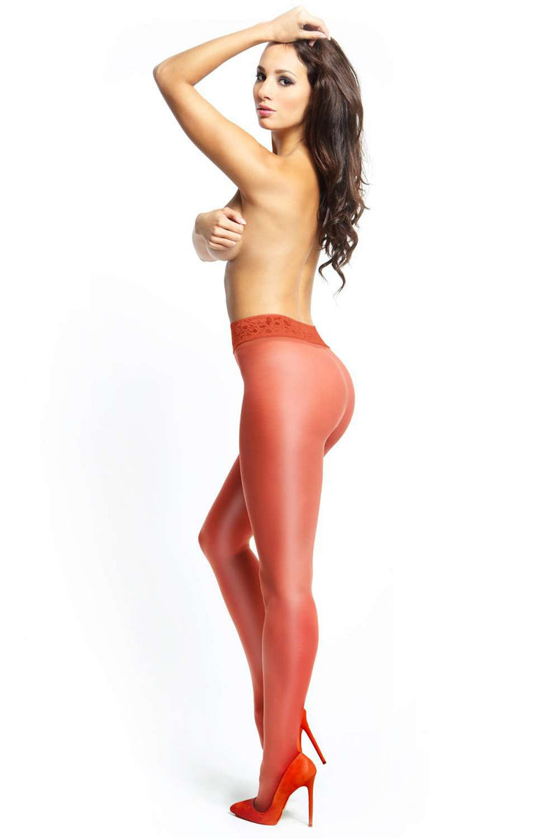 missO Red Tights - 20 Denier Pantyhose - Naughty Knickers