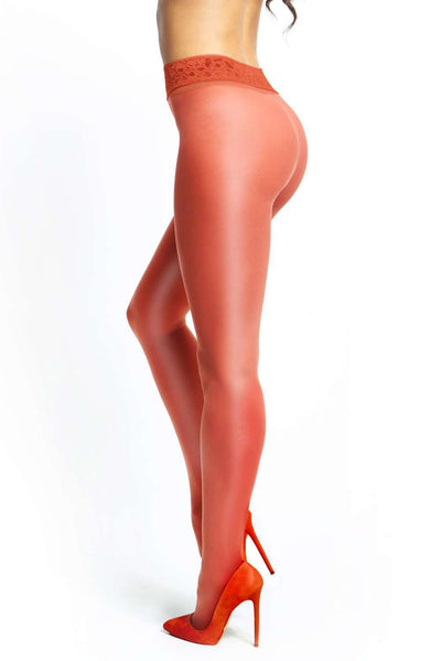 missO Red Tights - Sheer Pantyhose - Naughty Knickers