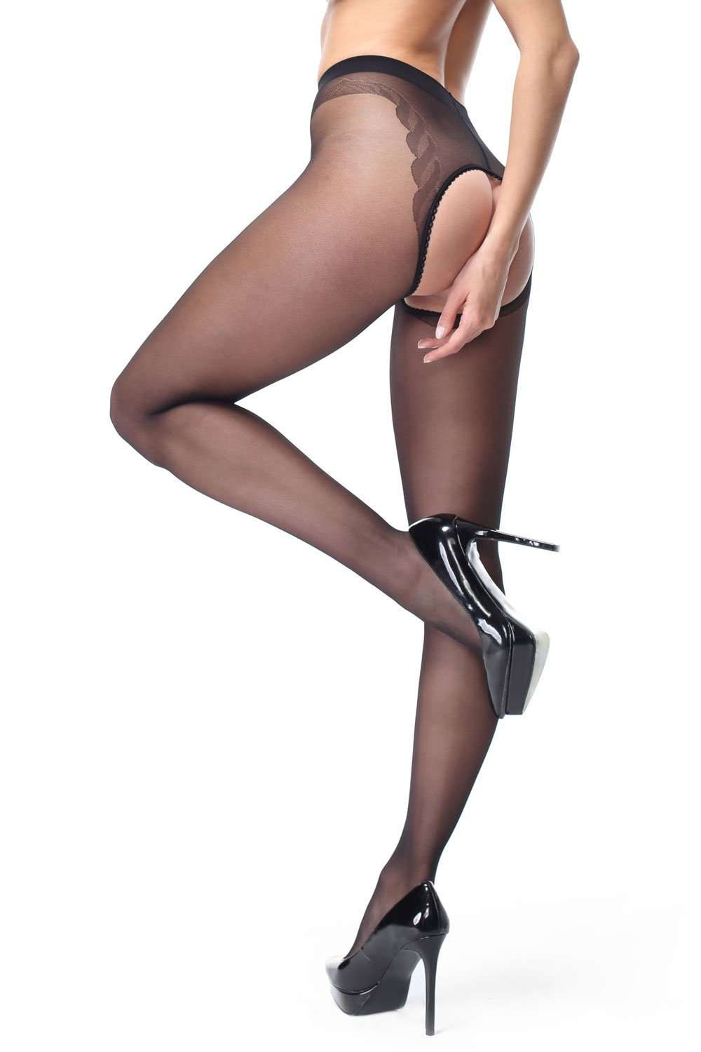 missO Patterned Pantyhose - Sheer Hosiery - Naughty Knickers