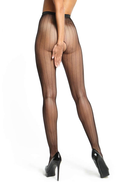 missO Patterned Tights - Black Hosiery - Naughty Knickers