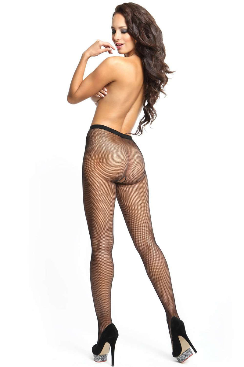 missO Fishnet Tights - Crotchless Pantyhose - Naughty Knickers