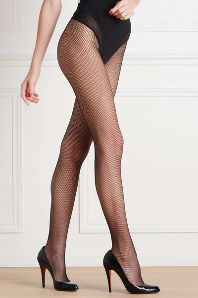 Maison Close Black Fishnet Tights 608415 - Naughty Knickers