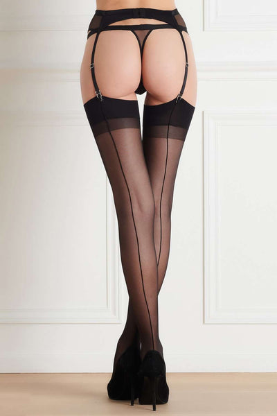Maison Close Back Seamed Stockings 20 Denier - Naughty Knickers
