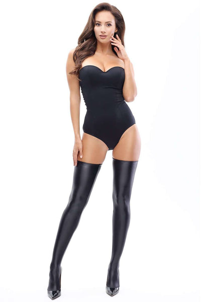 missO Lycra Glossy Opaque Hold Ups - Naughty Knickers
