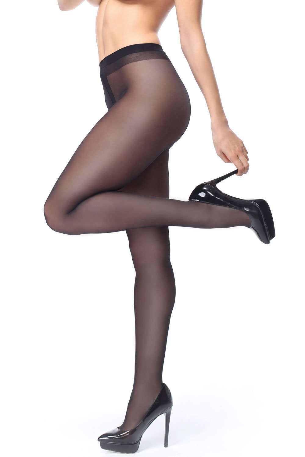 missO Black Tights - Sheer Tights - Naughty Knickers