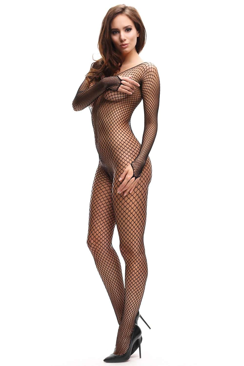 missO Fishnet Bodystocking - Crotchless Pantyhose - Naughty Knickers