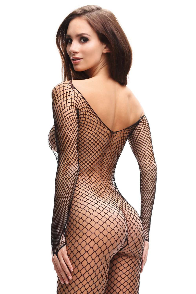 missO Crotchless Bodystocking - Crotchless Hosiery - Naughty Knickers