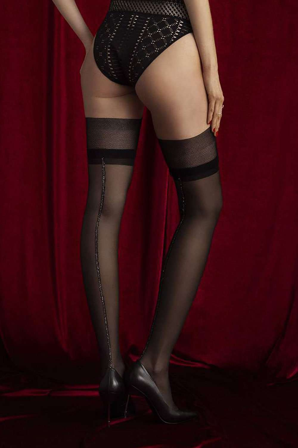 FiORE Sensual Allure Hold Ups 30 Denier O4059 - Naughty Knickers