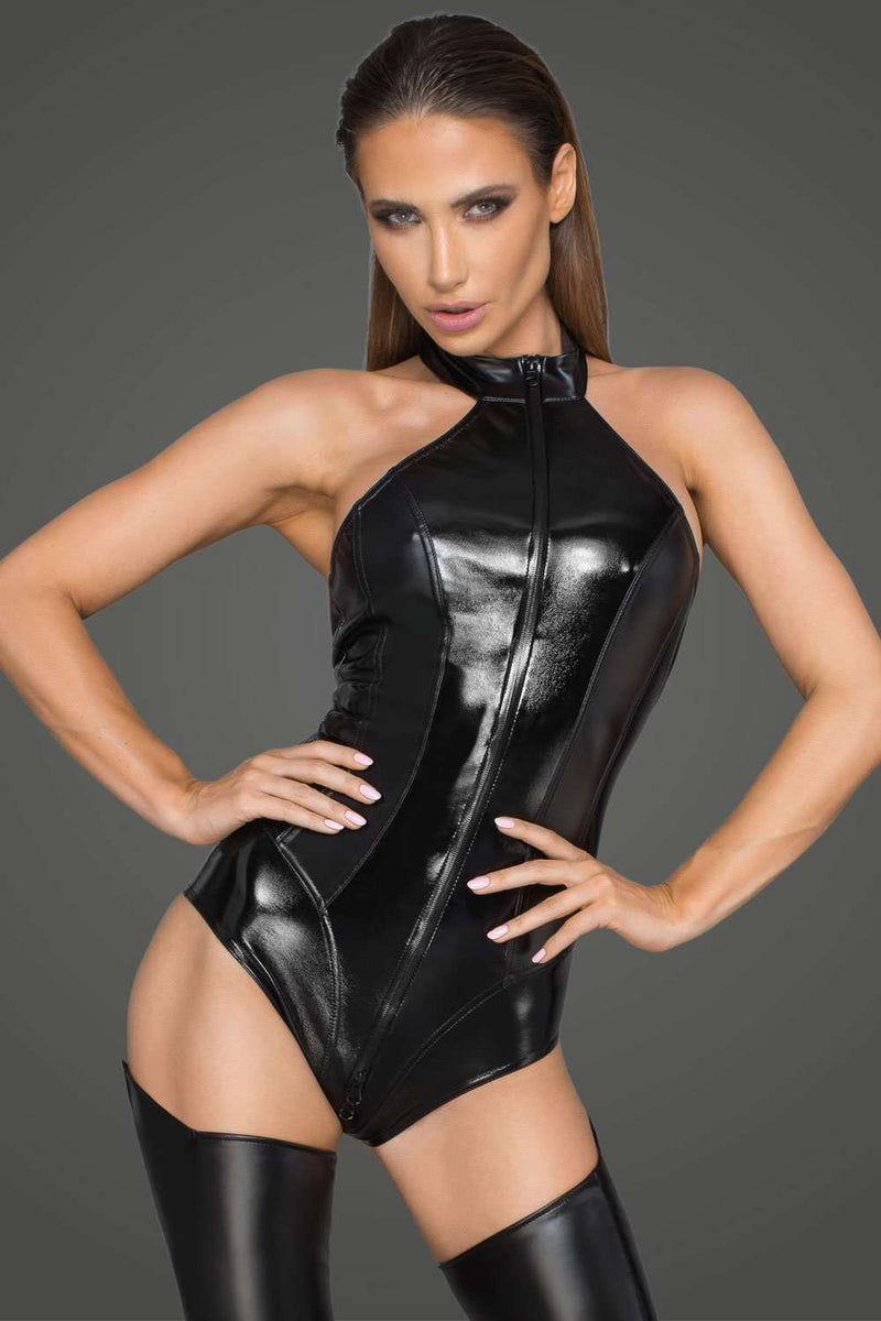 Noir Handmade Wetlook Body With 3-Way Zip