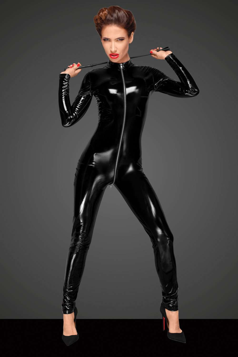 Noir Handmade Catsuit With 3-Way Zip