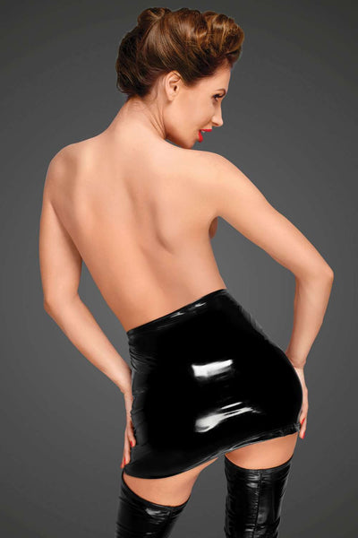 Noir Handmade Skirt With Zip - Fetish Skirt - Naughty Knickers