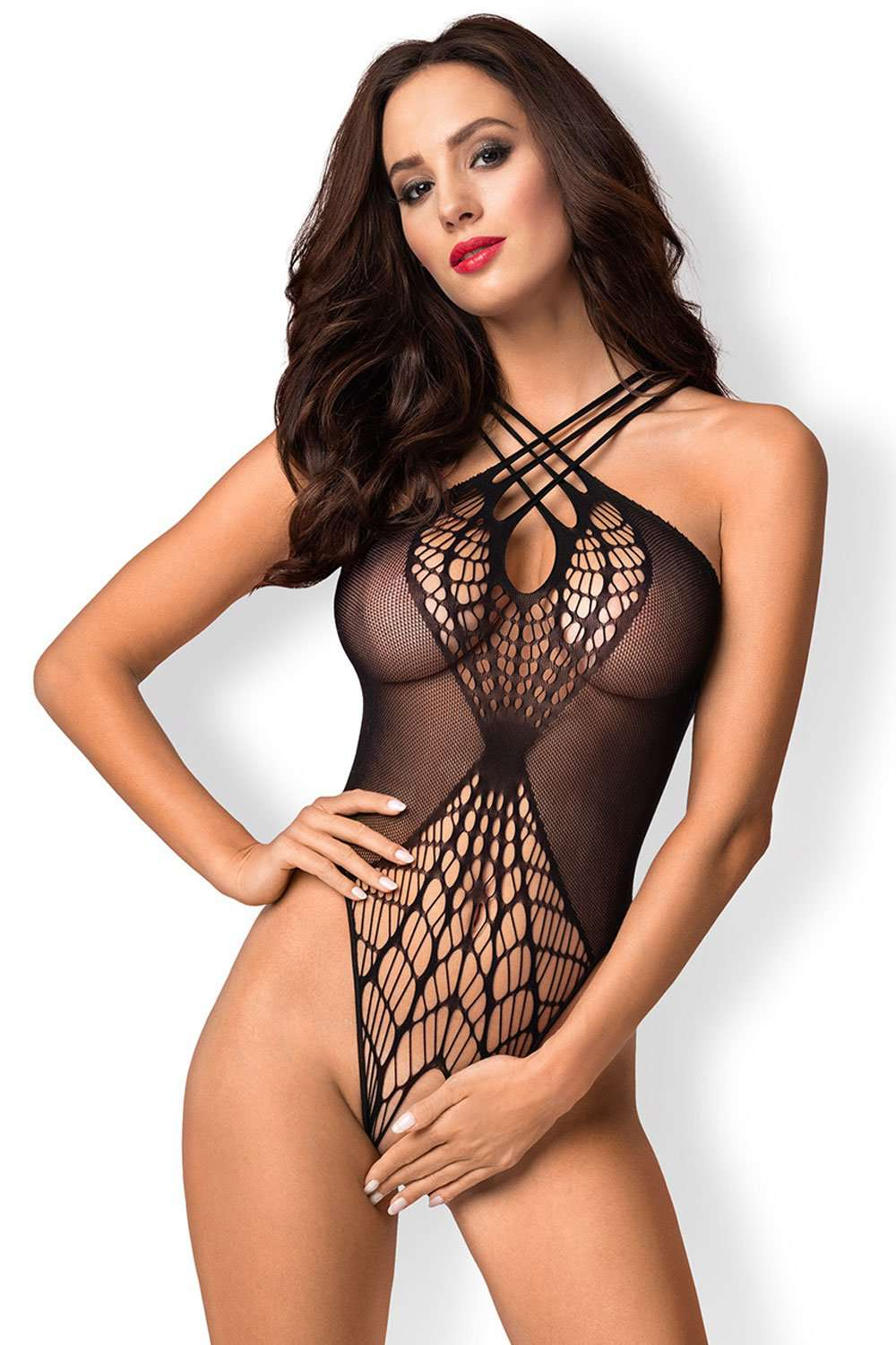 Obsessive - Crotchless Bodystocking B118 - Naughty Knickers