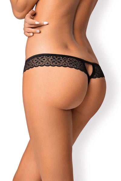 Obsessive - Crotchless Thong - Lace Lingerie - Naughty Knickers