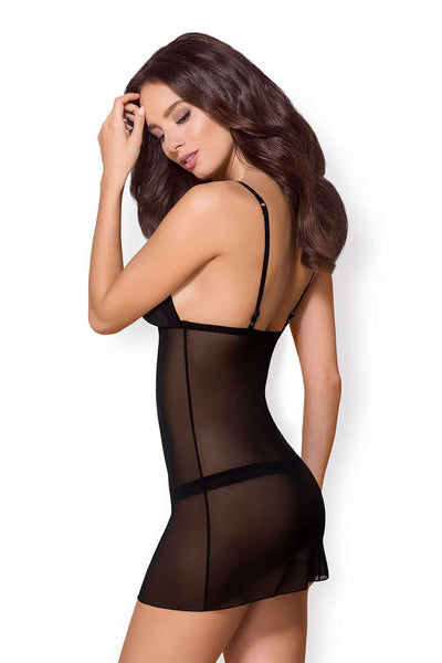 Obsessive Sexy Chemise & Thong - Sheer Nightwear - Naughty Knickers