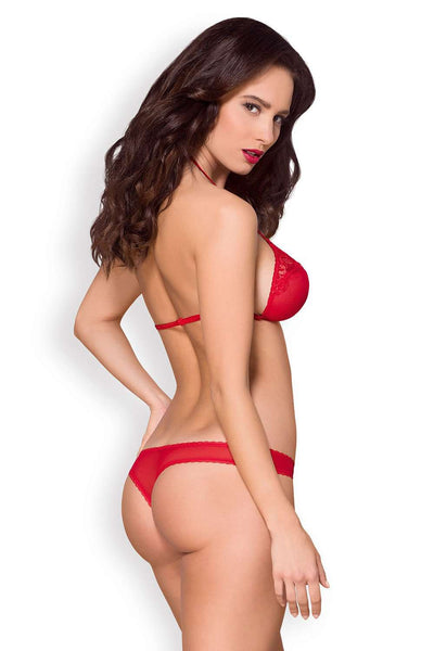 Obsessive Sexy Set - Red Lingerie - Naughty Knickers