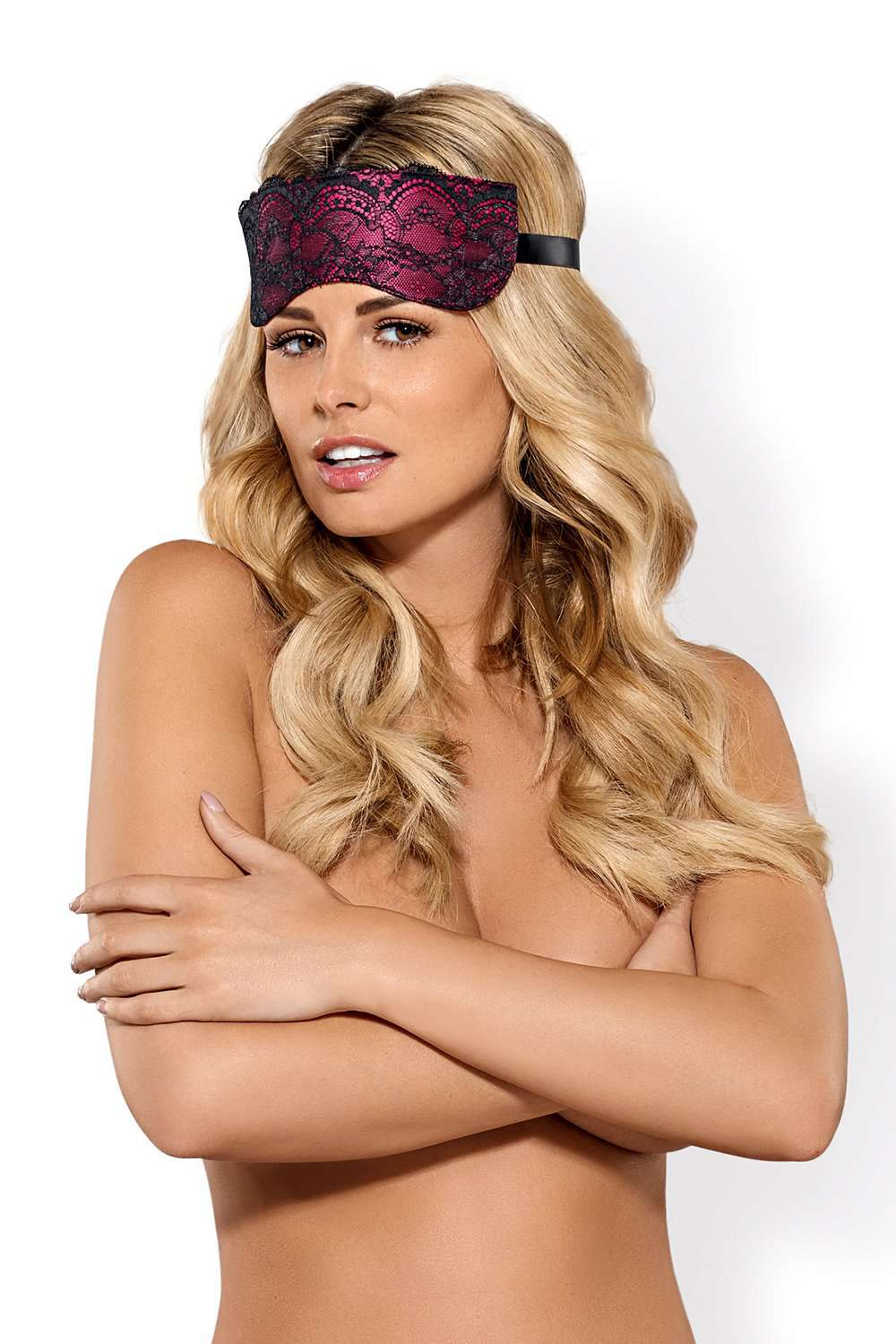 Obsessive Roseberry Eye Mask With Satin Tie Back