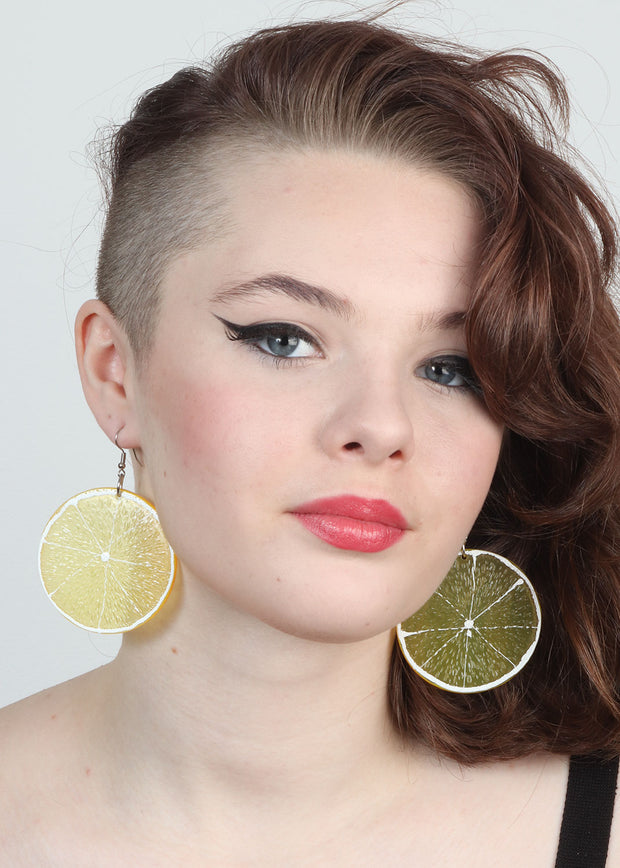 Lemon Slice Earrings