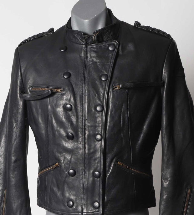 Hein Gericke leather WW2 repro aviator jacket