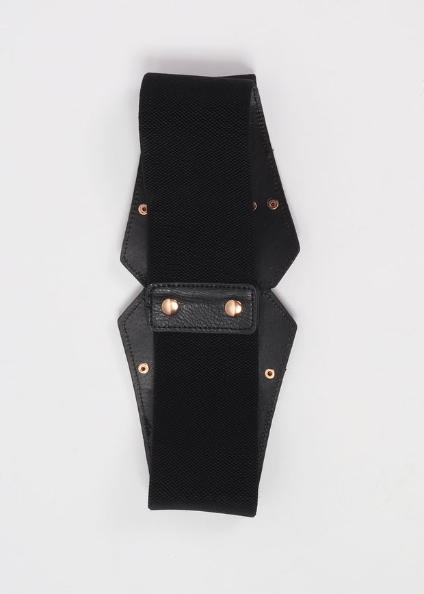 Fancy Buckle Front Corset Belt