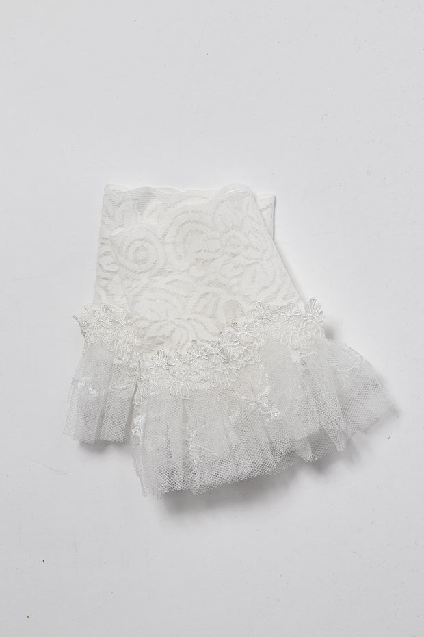 White Tulle Lace cuffs