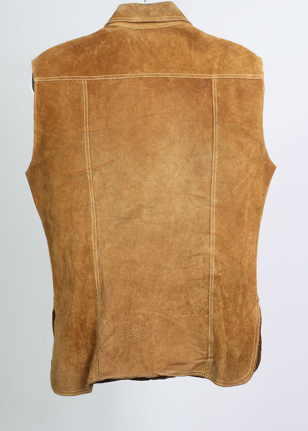 Multi Patch Vintage Suede Vest