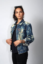 Levis bleach splatter trucker jacket