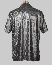 Silver M-XL Metallic Party Shirt