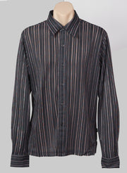 Sparkly Pinstriped M-L shirt