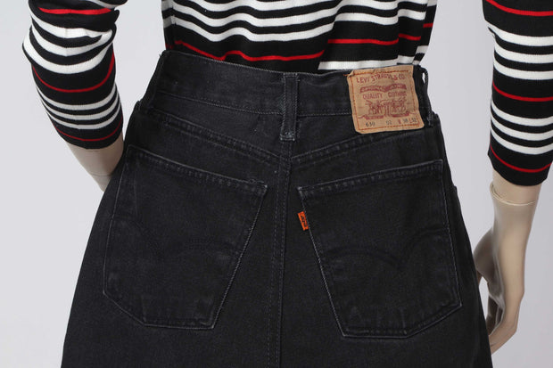 Levis 8 denim mini skirt remake