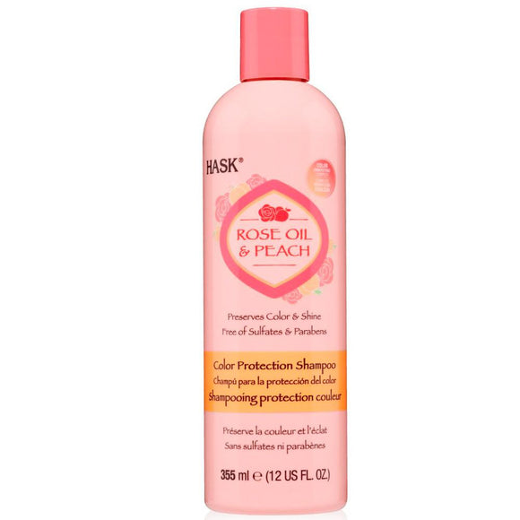 Hask Rose & Peach Shampoo 355ml