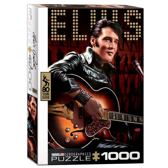 Eurographics Elvis Retrato - 1000 piezas. Original rompecabezas del rey del rock and roll. ¡Ideal para coleccionistas!