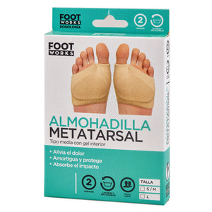 Almohadilla metatarsal tipo media con gel interior