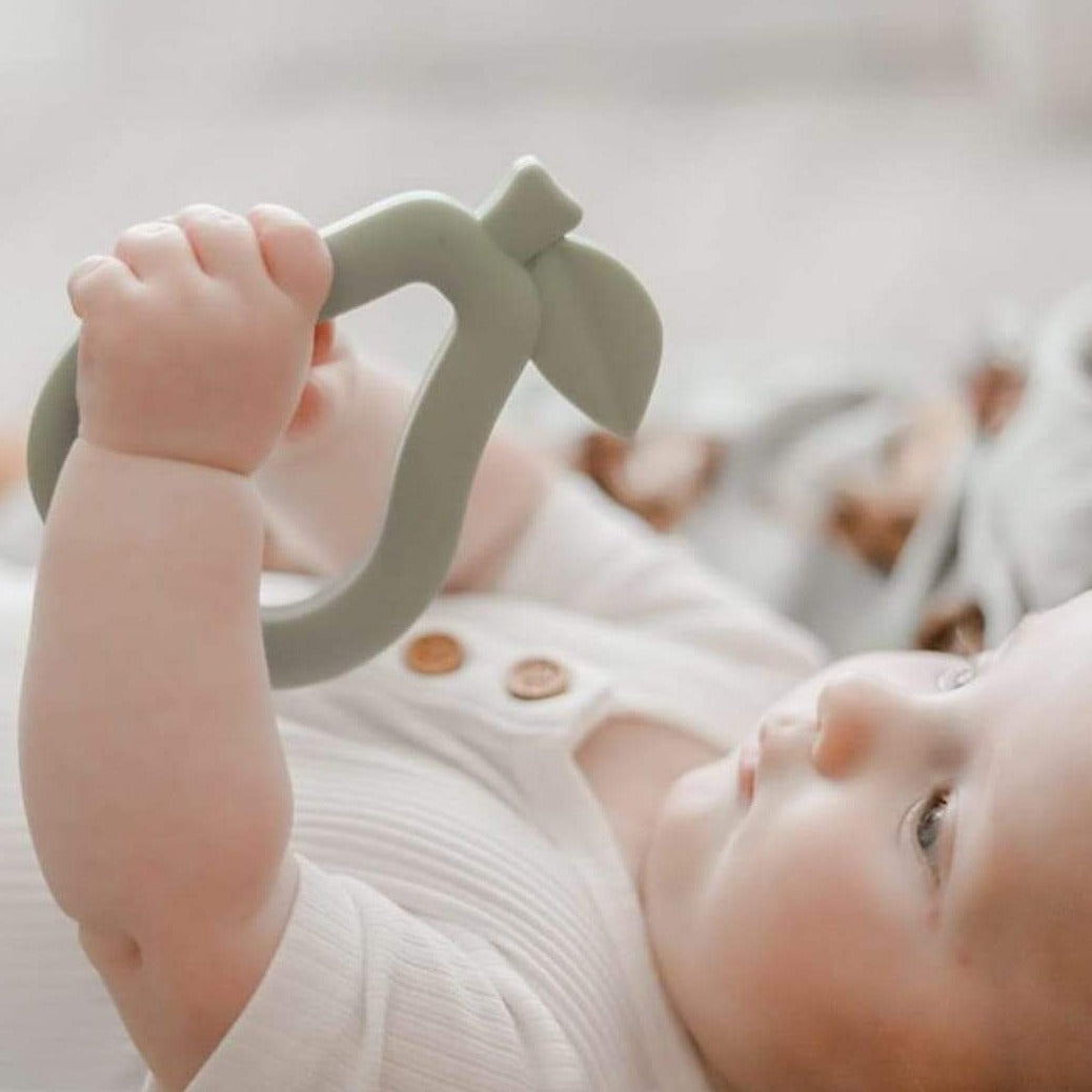 Pear Silicone Teether - Sage