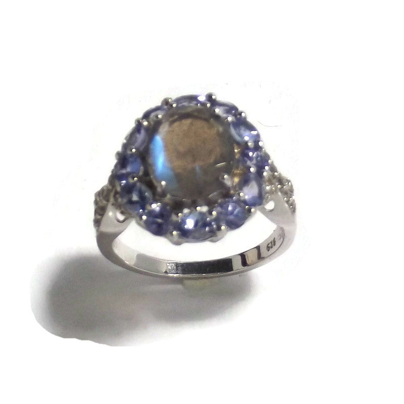 Labradorite and Tanzanite and Sterling Silver Ring