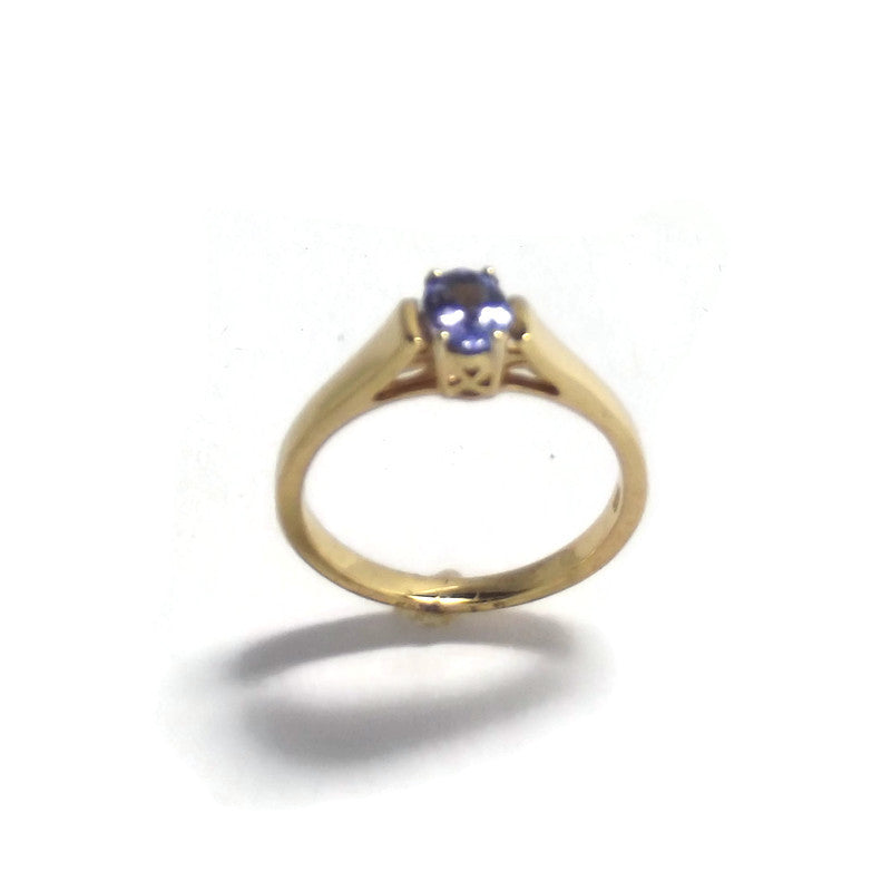 Tanzanite Gold Plated Sterling Silver Ring