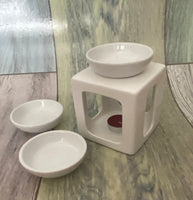 Milan Trio Ceramic Wax Burner (white)