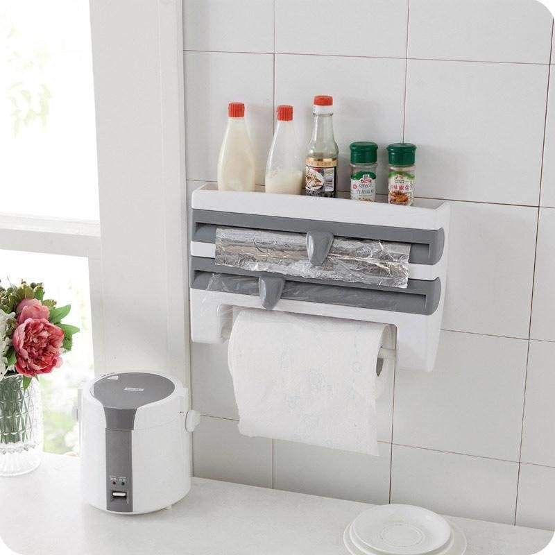 Kitchen Plastic Refrigerator Cling Film Storage Rack