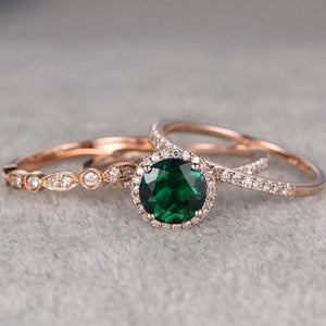 New High Quality 3Pcs/Set Green Stone