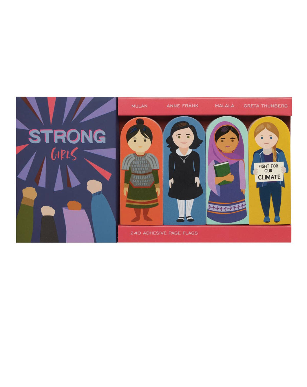 Strong Girls Adhesive Page Flags