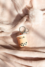 Load image into Gallery viewer, PEARL BOBA TEA LIGHT-UP KEYCHAIN