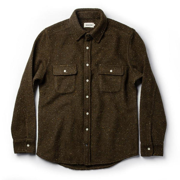 The Leeward Shirt in Olive Donegal