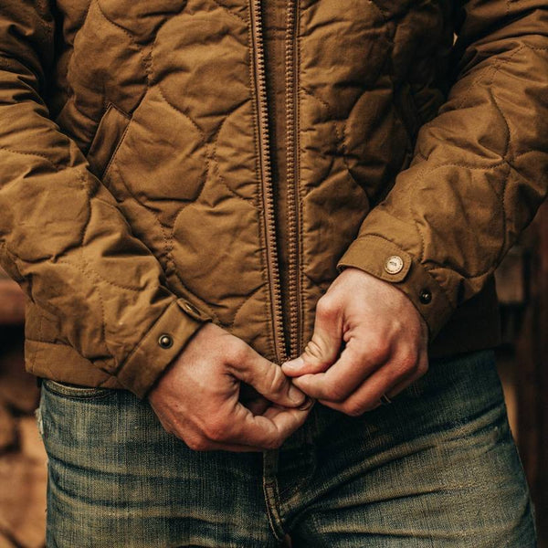 The Vertical Jacket in British Khaki Dry Wax