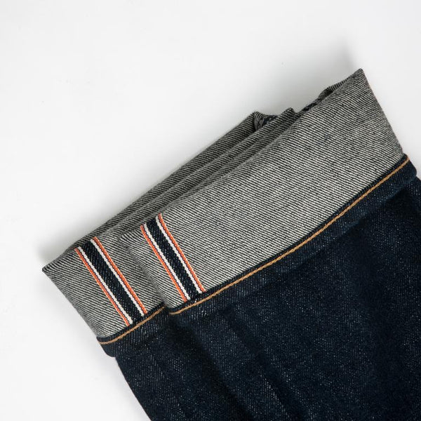 """THE PEN"" SLIM JEANS - INDIGO RAW 14OZ"