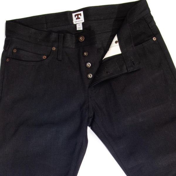 Ladbroke Grove Black Japanese Slim Tapered 13.5 Selvedge Jeans