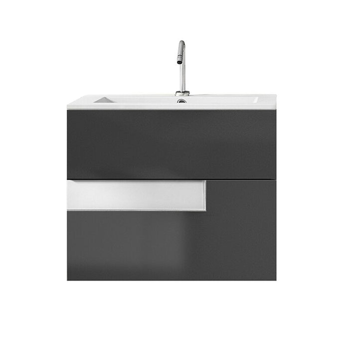 Lucena Bath Vision Bathroom Vanity Wall-Mounted, Grey and White (24″, 32″, 40″ )