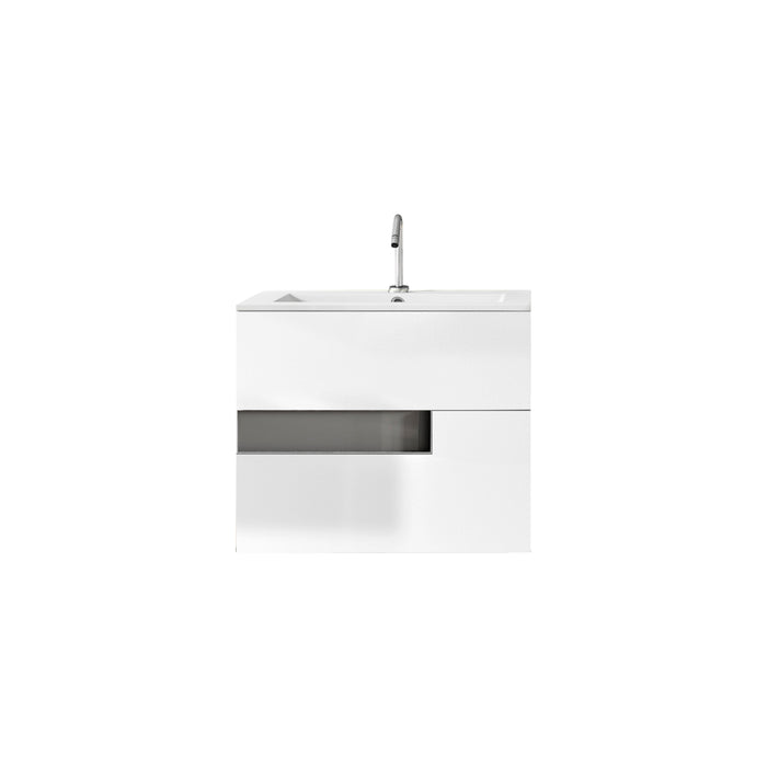 Lucena Bath Vision Bathroom Vanity Wall-Mounted, White and Grey (24″, 32″, 40″ )