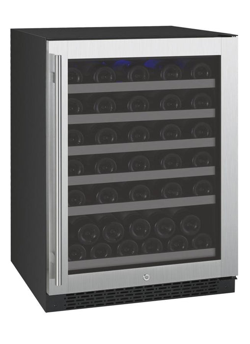 "Allavino 24"" Wide FlexCount II Tru-Vino 56 Bottle Single Zone Stainless Steel Wine Refrigerator"