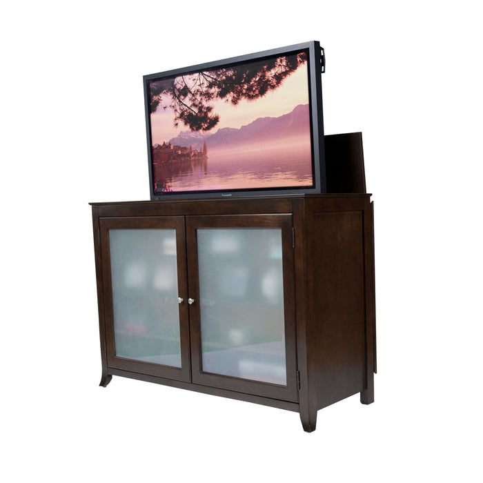 "TV Lift Cabinet for 60"" Flatscreen TVs - Tuscany by Touchstone, Espresso 70053"