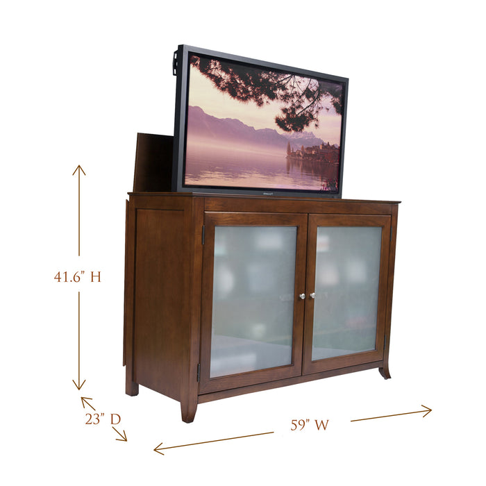 "TV Lift Cabinet for 60"" Flatscreen TVs - Brookside by Touchstone, Cherry 70054"